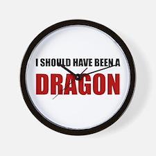 Should Have Been Dragon Wall Clock