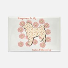 Sheepdog Happiness Rectangle Magnet (100 pack)