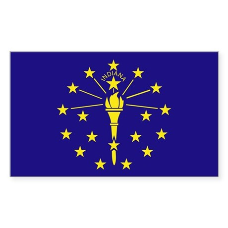 Indiana State Flag Rectangle Sticker