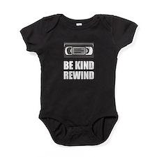 VHS Cassette Tape Be Kind Rewind Baby Bodysuit