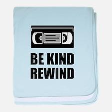 VHS Cassette Tape Be Kind Rewind baby blanket