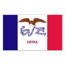 Iowa State Flag Rectangle Decal