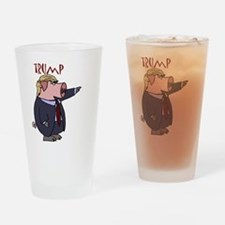 Funny Donald Trump Political Pig  Drinking Glass