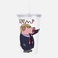 Funny Donald Trump Pol Acrylic Double-wall Tumbler