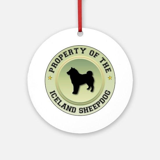 Sheepdog Property Ornament (Round)