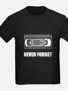 VHS Cassette Tape Never Forget T-Shirt