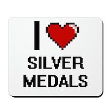 I Love Silver Medals Digital Design Mousepad