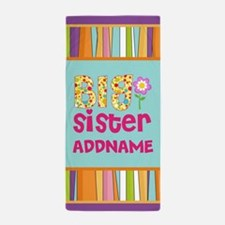 Cute Kids Big Sister Personalized Beach Towel