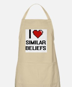 I Love Similar Beliefs Digital Design Apron