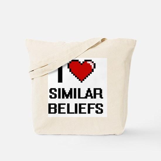 I Love Similar Beliefs Digital Design Tote Bag