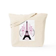Eiffel Tower Gradient Swirl Design Tote Bag