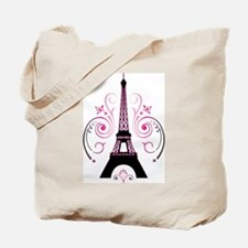 Eiffel Tower Gradient Swirl Design Tote Bag
