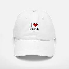 I Love Simple Digital Design Baseball Baseball Cap