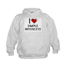 I Love Simple Interests Digital Design Hoodie