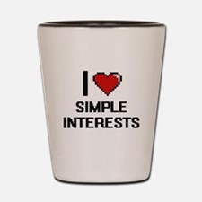 I Love Simple Interests Digital Design Shot Glass