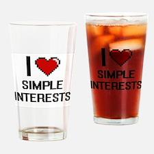 I Love Simple Interests Digital Des Drinking Glass