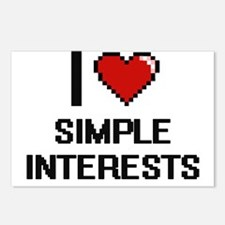 I Love Simple Interests D Postcards (Package of 8)