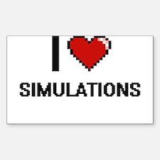 I Love Simulations Digital Design Decal