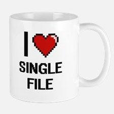 I Love Single File Digital Design Mugs
