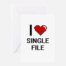 I Love Single File Digital Design Greeting Cards