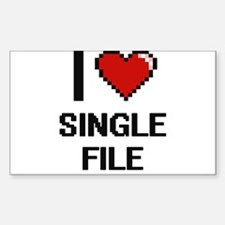 I Love Single File Digital Design Decal