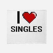 I Love Singles Digital Design Throw Blanket