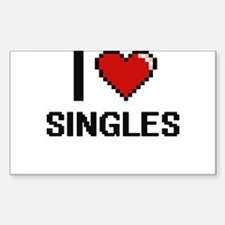 I Love Singles Digital Design Decal