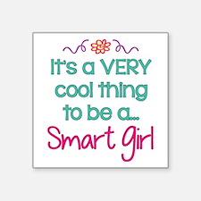 """Smart Girl... Square Sticker 3"""" x 3"""""""