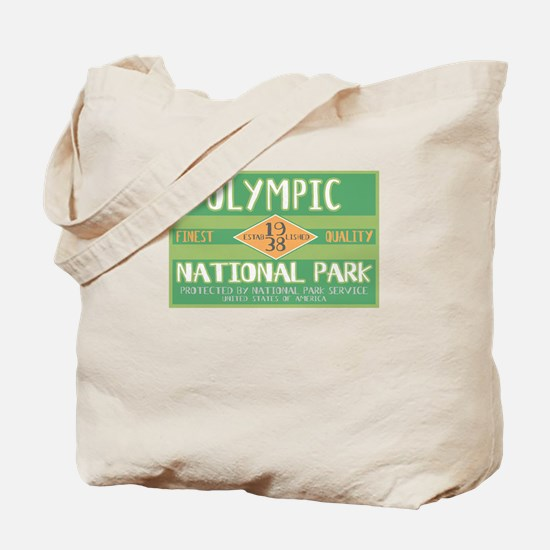 Olympic National Park (Retro) Tote Bag