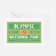 Olympic National Park (Retro) Greeting Card