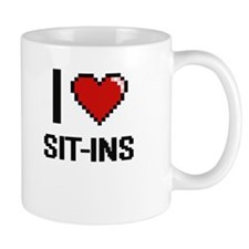 I Love Sit-Ins Digital Design Mugs
