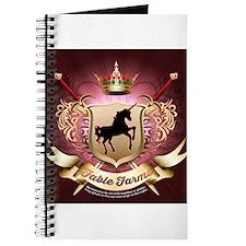 Funny Fresian horse Journal