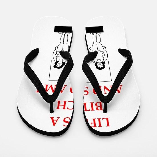 sports joke Flip Flops