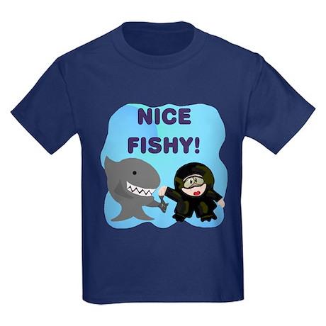 Shark Feeder Kids Dark T-Shirt