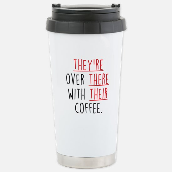 Grammar Lesson Stainless Steel Travel Mug