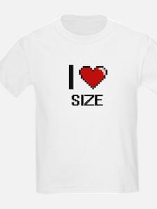 I Love Size Digital Design T-Shirt