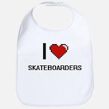 I Love Skateboarders Digital Design Bib