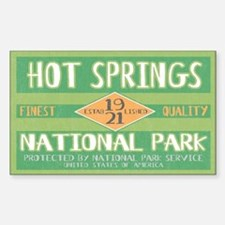 Hot Springs National Park (Retro) Decal
