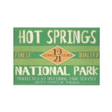 Hot Springs National Park (Retro) Rectangle Magnet