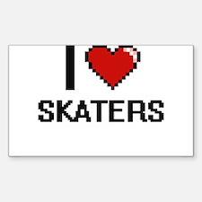 I Love Skaters Digital Design Decal