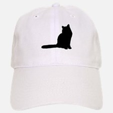 Norwegian forest cat silhouette Baseball Baseball Baseball Cap
