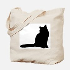 Norwegian forest cat silhouette Tote Bag