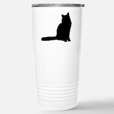 Norwegian forest cat silhouette Travel Mug