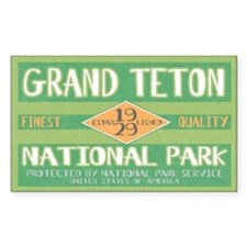 Grand Teton National Park (Retro) Decal