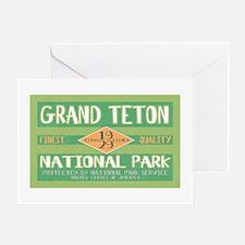 Grand Teton National Park (Retro) Greeting Card