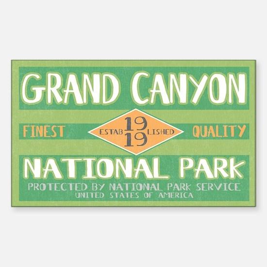 Grand Canyon National Park (Retro) Decal