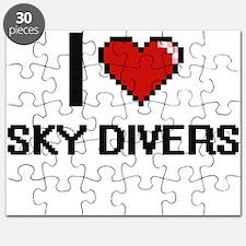 I love Sky Divers Digital Design Puzzle