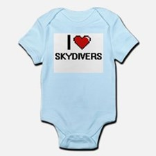 I love Skydivers Digital Design Body Suit