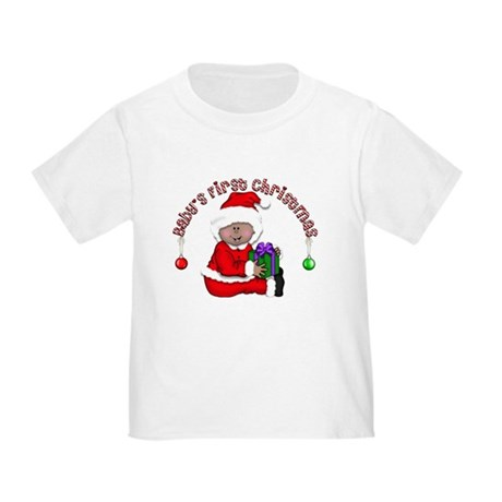 Santa 1st Christmas (African) Toddler T-Shi
