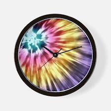 Abstract Purple Tie Dye Wall Clock